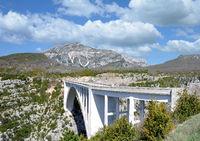 Pont de l`Artuby Bridge in Verdon Gorge,Provence,France
