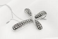 White Gold Cross Pendant With Diamonds