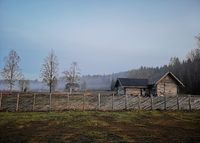 Russian old village