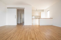 empty flat with small kitchen