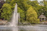 Fountain In The Lake, Stavanger, Norway