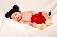 healthy newborn baby two week old sleeping