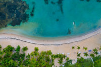 bird view shot of Samana beach