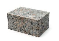 Block of natural unpolished granite