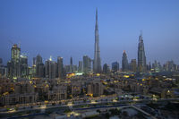 Evening view at Burj Khalifa in Dubai