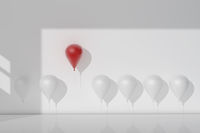 balloon Stand out from the crowd and different concept
