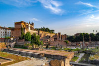 Roman Forum, Rome, Italy, long shot.