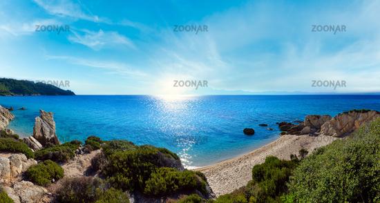Summer morning sunshiny sea coast