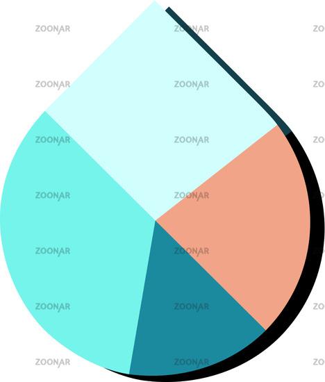 Photo Water Drop Pie Chart Vector Image 12202941