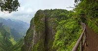 Panorama of Tianmenshan nature park - China