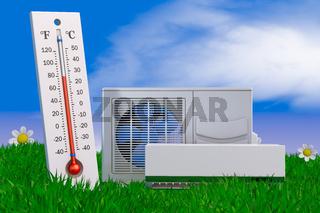 conditioner and thermomete