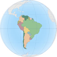 South America continent is divided by country