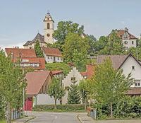 Seitingen-Oberflacht with Church Mariä Himmelfahrt