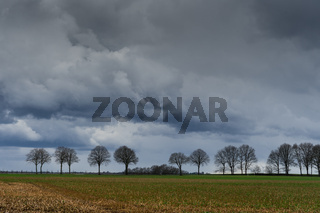 Ein Sturm zieht auf über dem Niederrhein