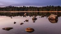 First light over Loch Morlich, Scotland