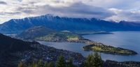 aerial view of Queenstown in daytime