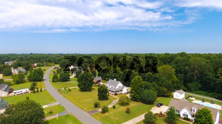 typical american country subdivision neighborhood aerial
