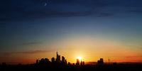 Skyline Silhouette der Stadt Frankfurt am Main
