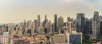 Singapore high angle view panorama city skyline at Singapore business district