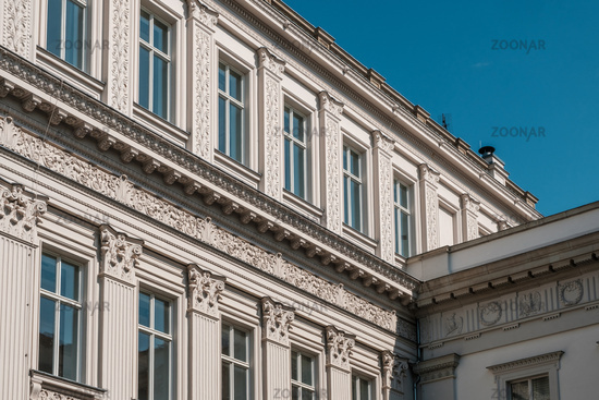 beautiful historic building facade decoration  in Berlin, Germany -