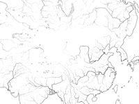 World Map of CHINA: Far East, China, Tibet, Mongolia, Dzungaria, Manchuria, Korea, Taiwan. Geographic chart.