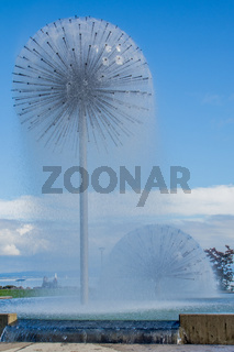 Wasserspiel in Romanshorn, Kanton Thurgau, Schweiz
