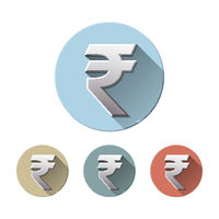 Rupee Currency Icon Isolated on white