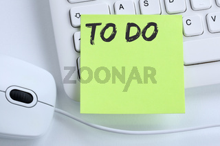 To Do To-Do-Liste Zettel Checkliste Liste Business Konzept Maus