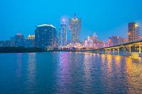 Macau cityscape skyline in Macau, China