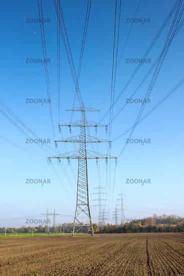 power pole rural field