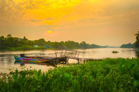 Sunrise over the river Kwai, Kanchanaburi, Thailand