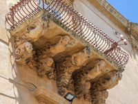 architectural detail in Noto