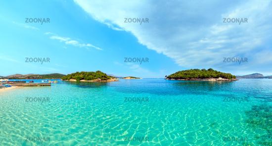 Ksamil beach panorama, Albania