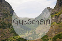 Valley And Mountain, Norway, Gutschein Means Voucher