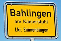 City-limit sign Bahlingen am Kaiserstuhl