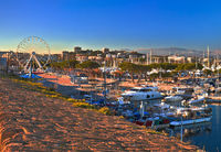 Antibes waterfront and Port Vauban harbor panoramic view