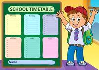 Weekly school timetable design 6