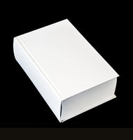 Closed blank dictionary, book isolated on black