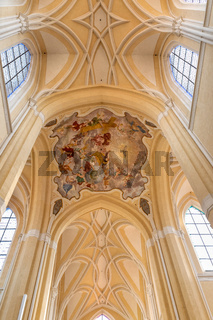 Decorative ceiling in the Cathedral Kutna Hora