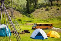 Xatsull Heritage Village British Columbia Canada 14 June 2018 School trip to Xatsull Heritage Villag