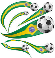 brazil flag element with soccer ball