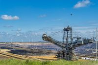 Bucket wheel excavator in surface mining in revision