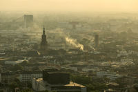 Late afternoon view of Mannheim, Germany