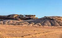 Rock formation Vogelfederberg in Namibia desert