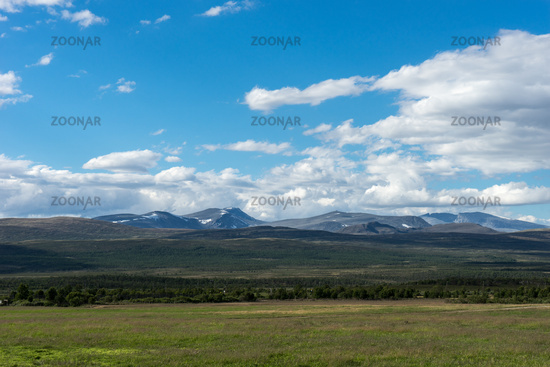 View to the Montains of Dovrefjell