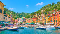 Portofino town panoramic view