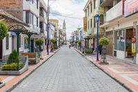 Bolivar street Otavalo Ecuador