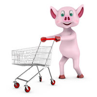 pig with cart