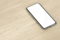 Smartphone on wood table