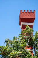 red tower in Vicuña
